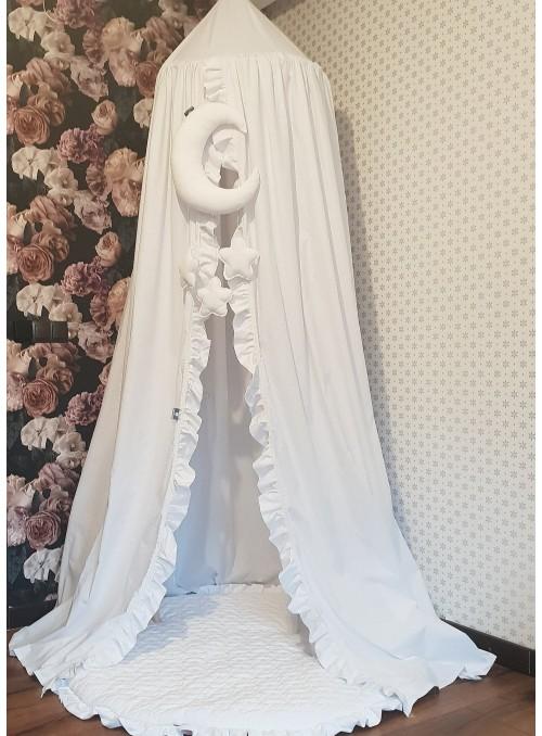 Biały baldachim z falbanką