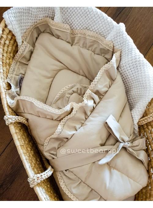 Rożek niemowlęcy beżowy -...