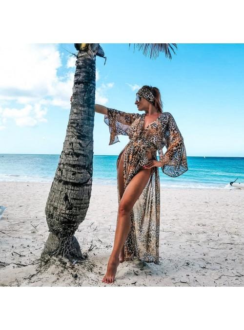 Sukienka plażowa a`la peniuar