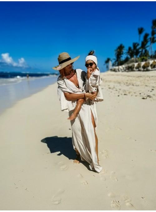 Muślinowa sukienka plażowa