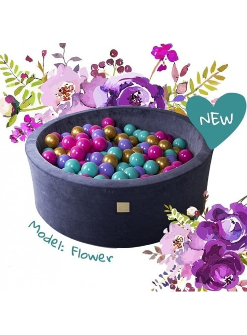 Basen VELVET model FLOWERS...