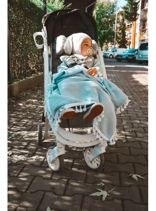 NIEBIESKI kocyk / otulacz...