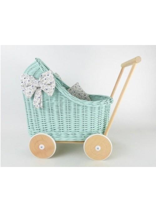 Wiklinowy wózek dla lalek...